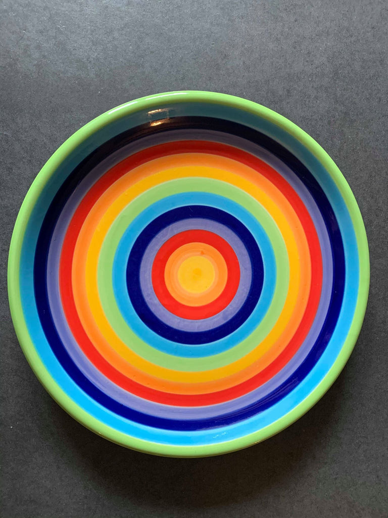 Rainbow Stripe Dinner Plate - NOW 30% OFF