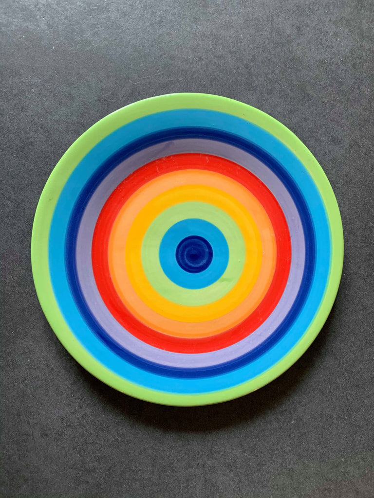 Rainbow Stripe Side Plate - NOW 30% OFF