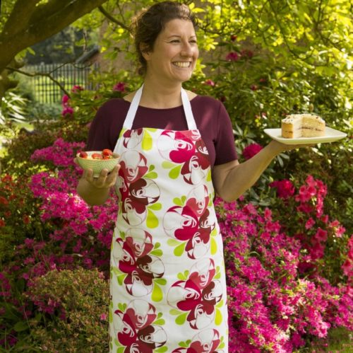 Rose Print Apron - NOW 30% OFF