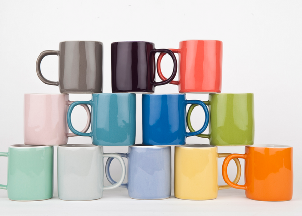 Quail's Egg Espresso Mug - NOW 20% OFF CORAL & MID BLUE