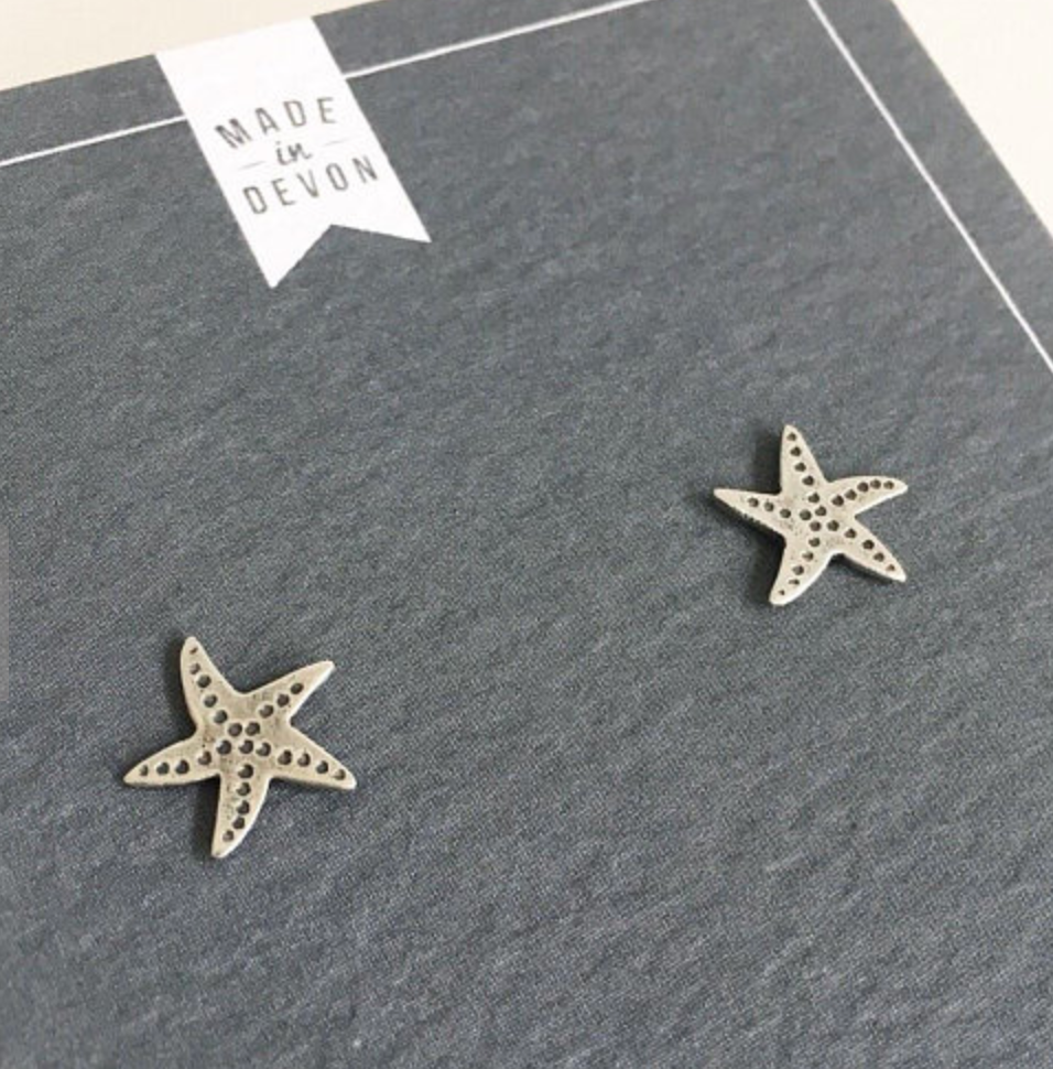 Lovebird Starfish Studs - NOW 20% OFF