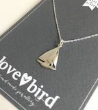 Lovebird Boat Silver Necklace