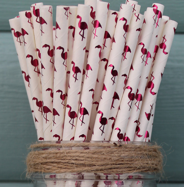 Paper Straws Prints Flamingo - NOW 20% OFF