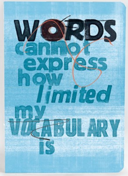 U Studio Scrawl Notebook Words Cannot Express - NOW 20% OFF