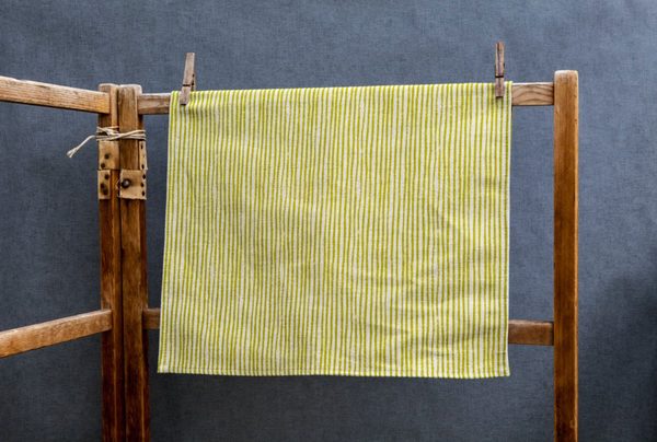 Sam Wilson Green Stripe Linen Tea Towel - NOW 20% OFF