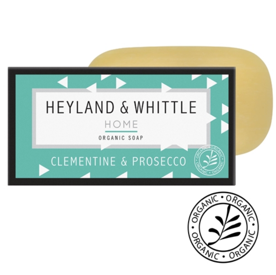 Heyland and Whittle Clementine & Prosecco Organic Soap Bar 150g