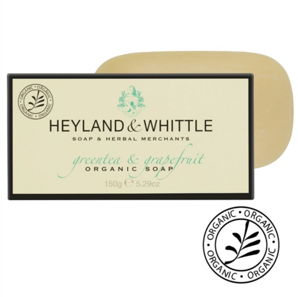 Heyland and Whittle Organic Greentea & Grapefruit Soap Bar