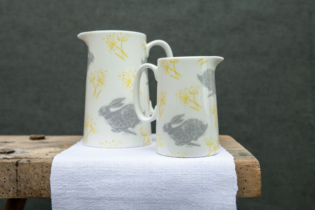 Sam Wilson Headlong Hare Jug - NOW 40% OFF