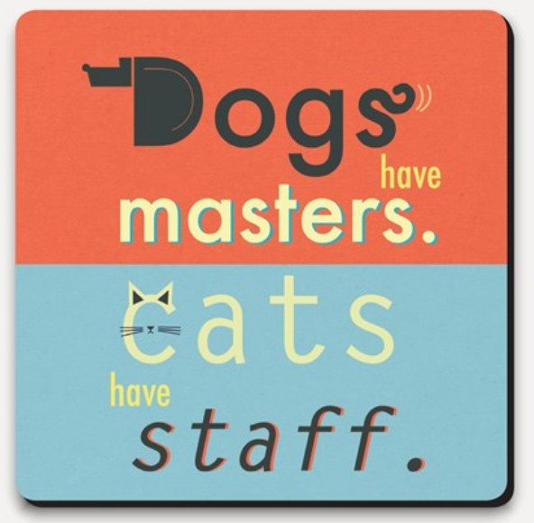 U-Studio Dog Master, Cats have Staff Coaster - NOW 40% OFF