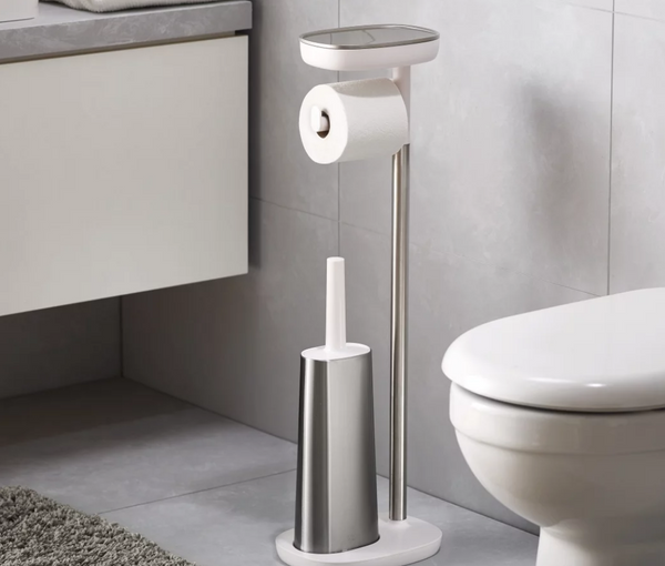 Joseph Joseph EasyStore™ Plus Standing Toilet Paper Holder inc Flex Steel - NOW 40% OFF