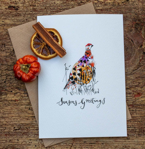 Sam Wilson Grouse Design Christmas Card