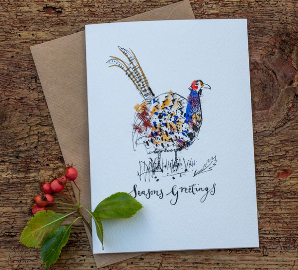 Sam Wilson Common Pheasant Christmas Card