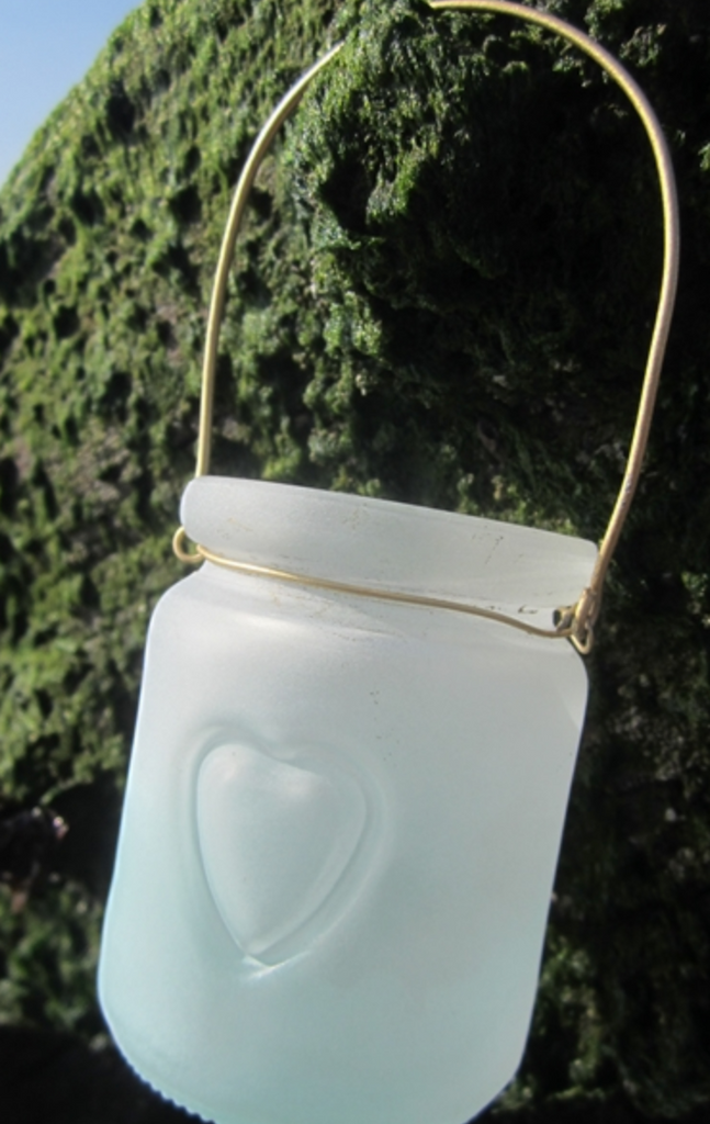 Small Mint Heart Jar Votive - NOW 20% OFF