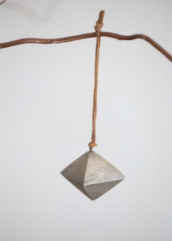 Tutti Brass Geometric Decoration With Leather Tie - NOW 25% OFF