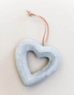 Tutti Concrete Hanging Heart - NOW 25% OFF