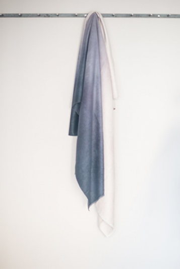 Tutti Grey Graduated Selvedge Throw - NOW 40% OFF