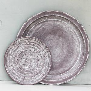 Tutti Large Grey Decorative Edge Plate - NOW 25% OFF