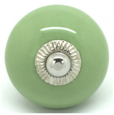 Door Knob Plain with Silver