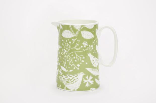 Sam Wilson Hedgerow Green Jug - NOW 20% OFF
