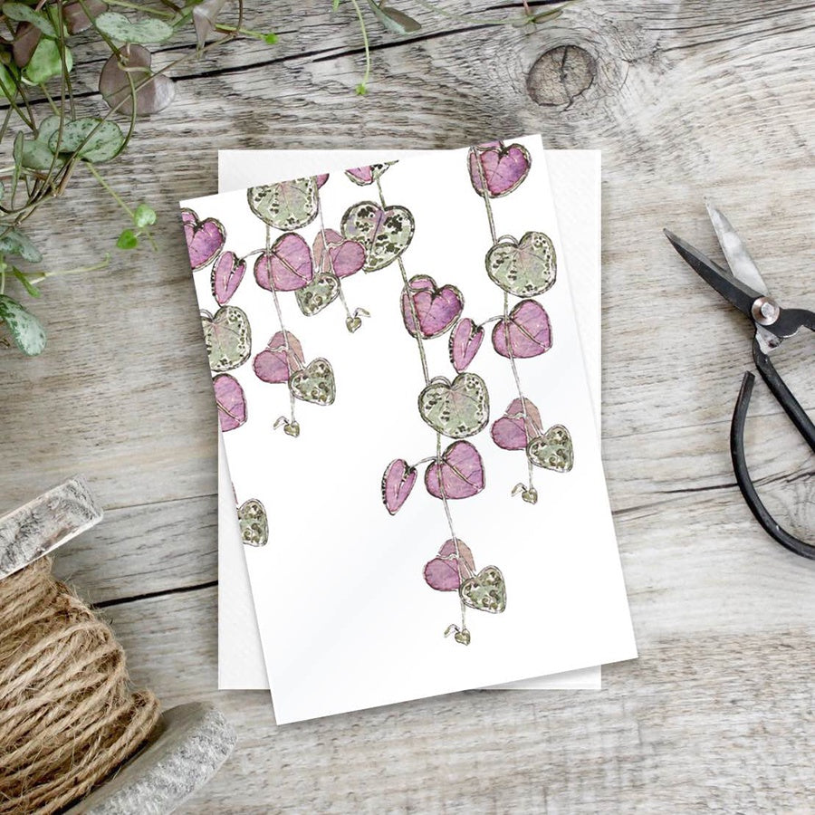 Toasted Crumpet String of Hearts Notecards Set of 6