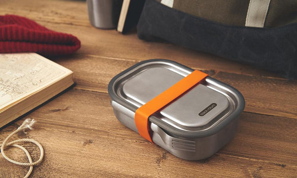Black and Blum Stainless Steel Lunch Box