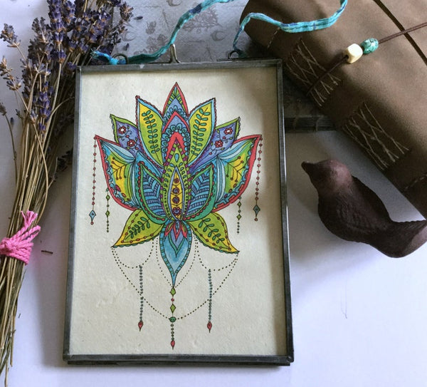 Kitty Jane Lotus Jewel Framed Print