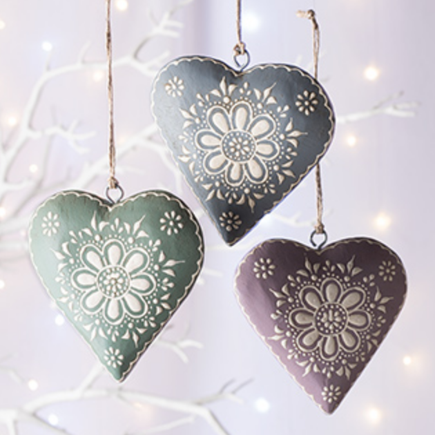 Hand Painted Wooden Hanging Heart - NOW 20% OFF