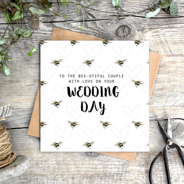 Toasted Crumpet Beeutiful Wedding Day Card