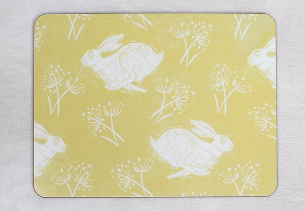 Sam Wilson Headlong Hare Placemat