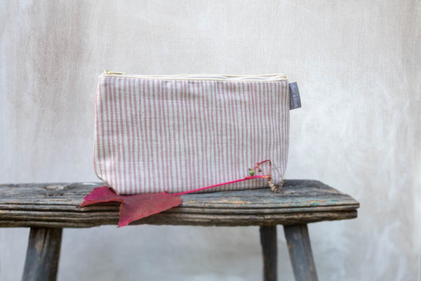 Sam Wilson Pink Stripe Medium Washbag