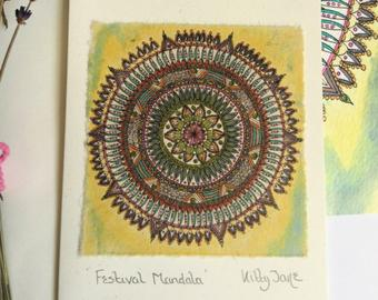 Kitty Jane Festival Mandala Card