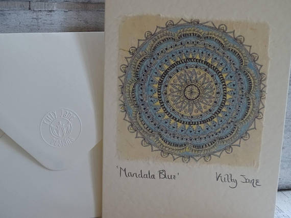 Kitty Jane Mandala Blue Card