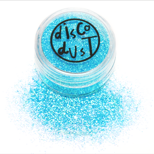 Iridescent Sky Blue Fine Disco Dust