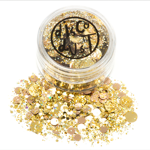 Golden Disco Chunky Mix Glitter