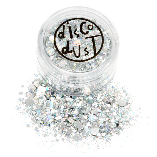 Silver Disco Chunky Mix Glitter