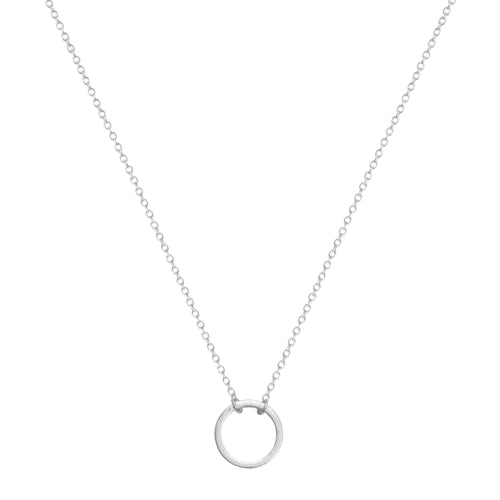 Silver Circle Short Necklace