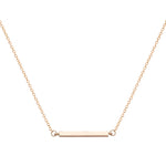 Gold Bar Choker Style Necklace