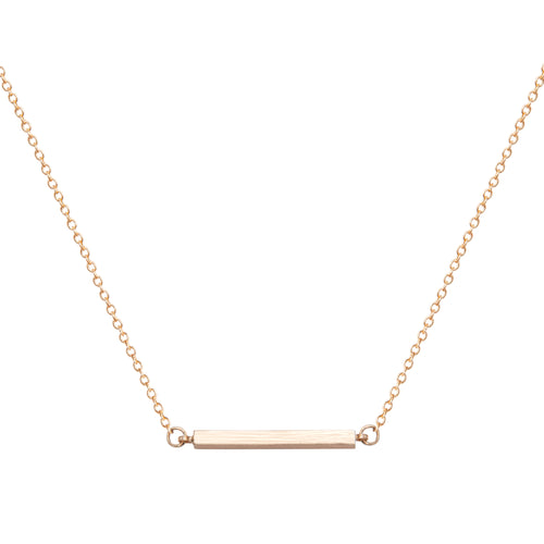 Gold Bar Short Necklace