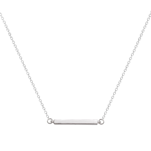 Silver Bar Short Necklace