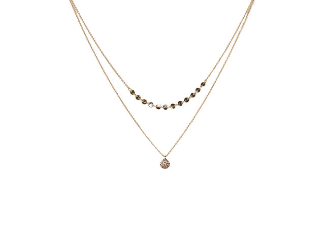 gloria gem pebble layered necklace