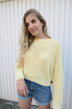 Daisy Street Pastel Yellow Jumper longer length
