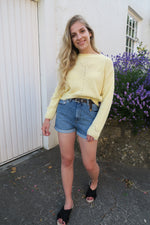 Daisy Street Pastel Yellow Jumper