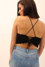 Wyldr Summer Nights - Lace Up Back Crop Top
