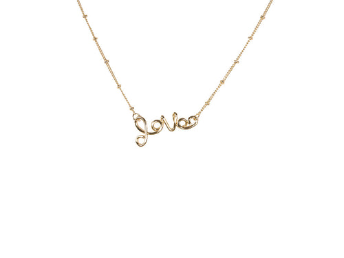 Melania Gold Love Necklace