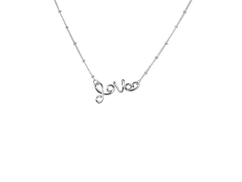 Melania Silver Love Necklace