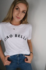 Ciao Bella Slogan White T-shirt