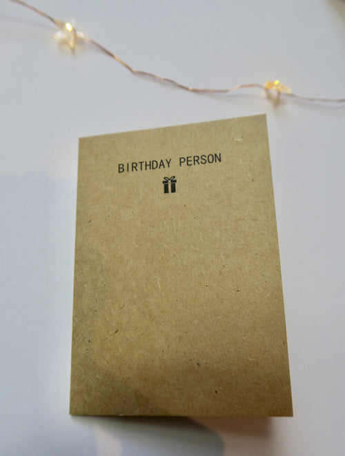 'BIRTHDAY PERSON' Mini Card