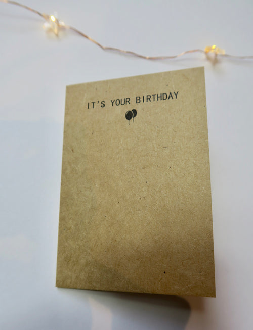 'IT'S YOUR BIRTHDAY' Mini Card