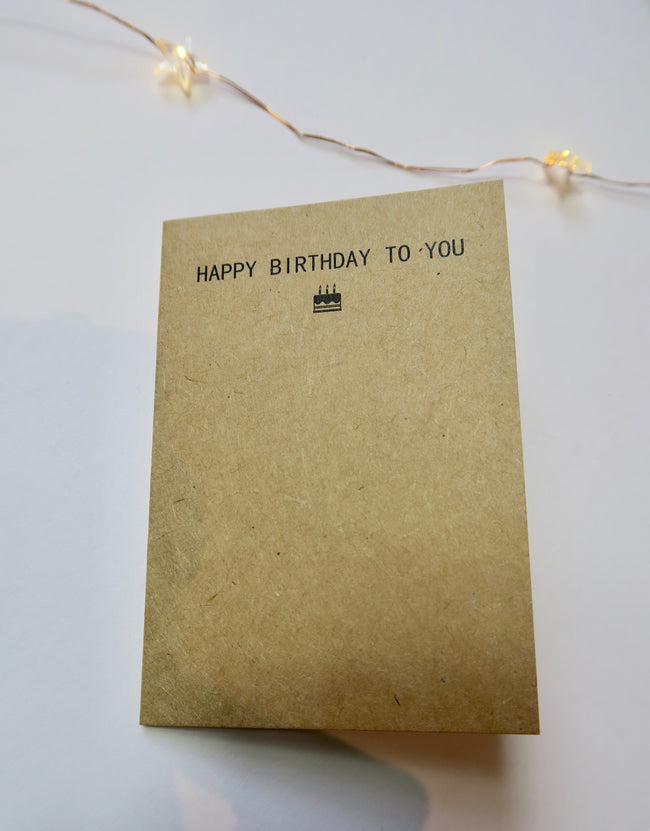 'HAPPY BIRTHDAY TO YOU' Mini Card