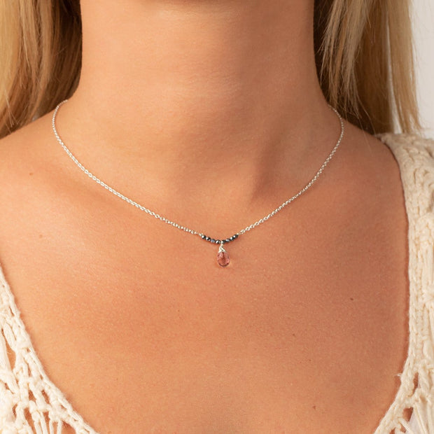 Peaceful Change - Tourmaline October Birthstone Necklace